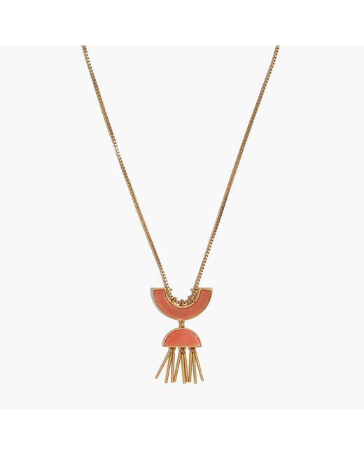 Madewell | Metallic Concept Pendant Necklace | Lyst