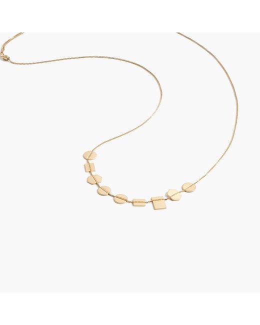 Madewell - Metallic Holding Pattern Necklace - Lyst