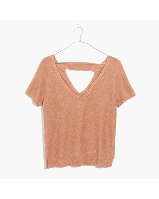 Madewell | Multicolor Double-v Sweater-tee | Lyst