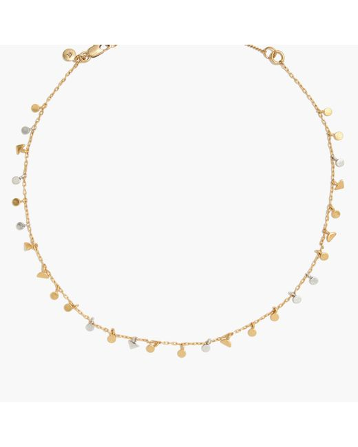 Madewell   Metallic Geochain Charm Necklace   Lyst