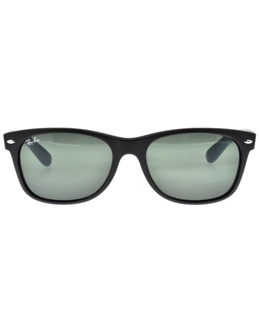 f37b2aa098 ... Ray-Ban - Ray Ban 2132 New Wayfarer Sunglasses Black for Men - Lyst ...