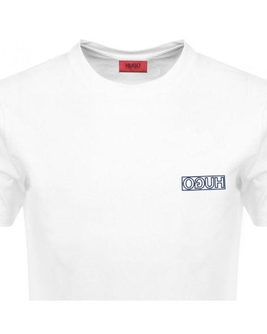 04405b38 ... HUGO - By Boss Durned U3 T Shirt White for Men - Lyst ...