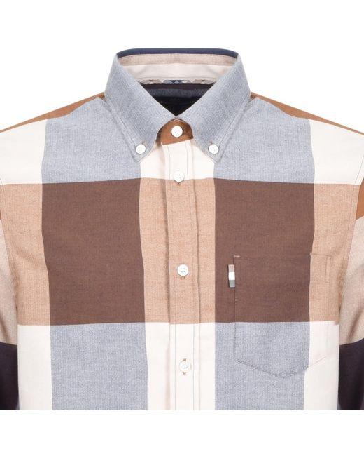 Aquascutum - Natural Long Sleeved Gunn Shirt Beige for Men - Lyst