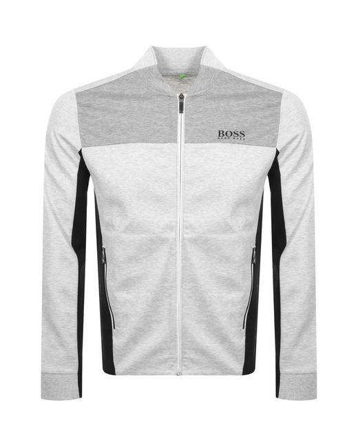 0ceae801 BOSS Athleisure Sl-tech Full Zip Sweatshirt in Gray for Men - Lyst