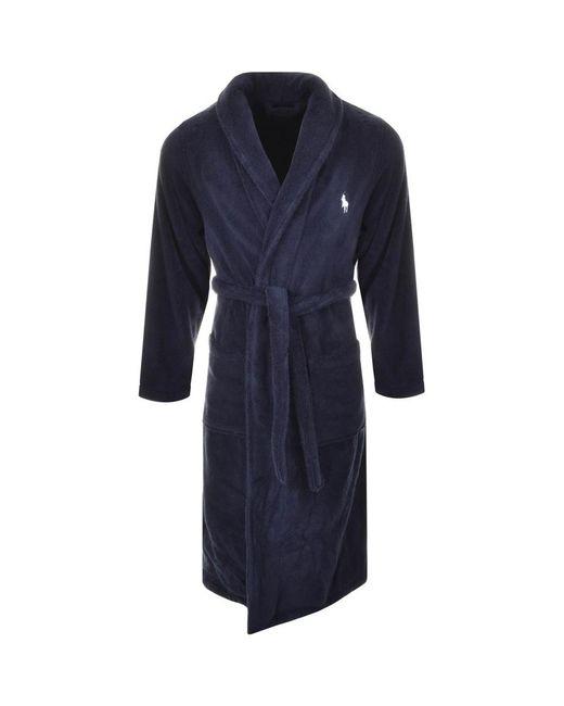 Ralph Lauren Shawl Dressing Gown Navy in Blue for Men - Save 26% - Lyst