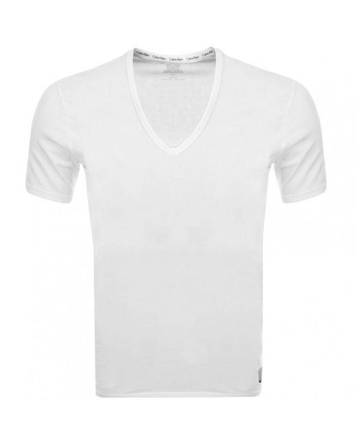 Calvin Klein - White 2-pack Cotton T-shirt, Black for Men - Lyst