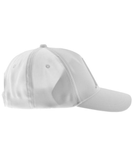 3843499a47a Armani Exchange Logo Cap White in White for Men - Save 52% - Lyst