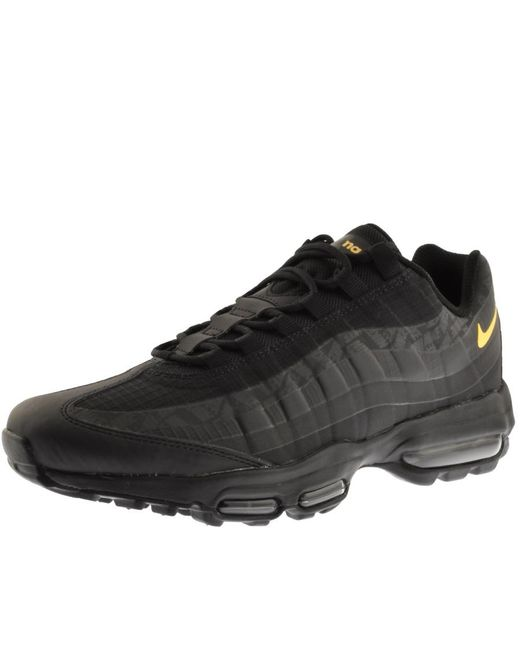 new product a669a eacd6 Nike - Air Max 95 Premium Trainers Black for Men - Lyst ...