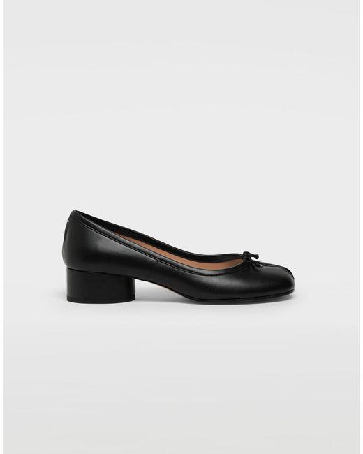 16a1bcb82f28 Maison Margiela - Black Tabi Leather Ballerina Pumps - Lyst ...