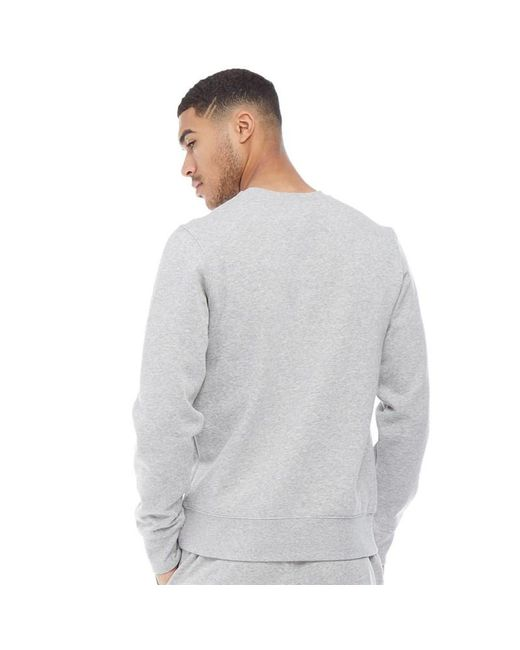 e8bf13ca6a ... New Balance - Gray Fleece Crew Sweat Athletic Grey for Men - Lyst ...