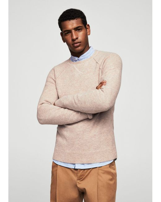 Mango | Natural Textured Knit Sweater for Men | Lyst