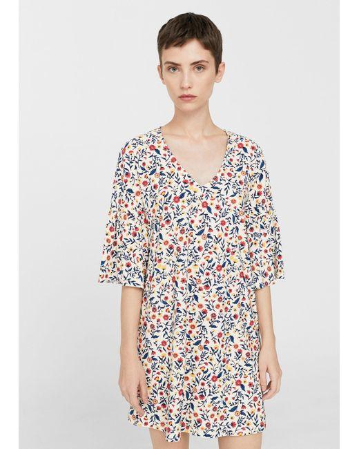 Mango | Multicolor V-neckline Dress | Lyst