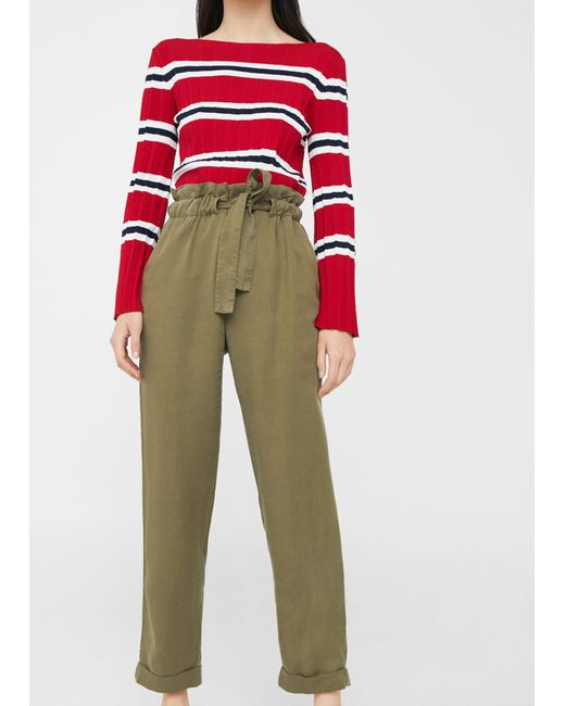 Mango   Natural Soft Cord Trousers   Lyst