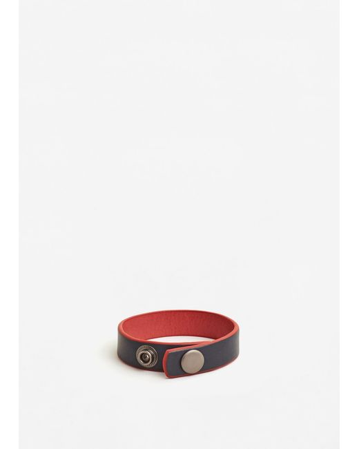 Mango | Red Leather Mixed Bracelet | Lyst