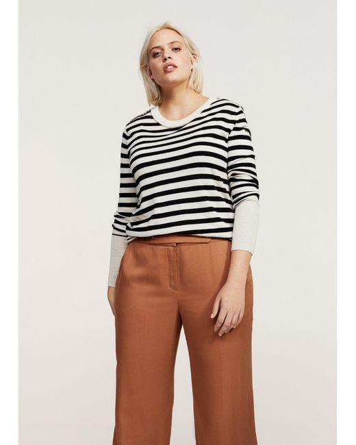 Violeta by Mango | Brown Trousers | Lyst