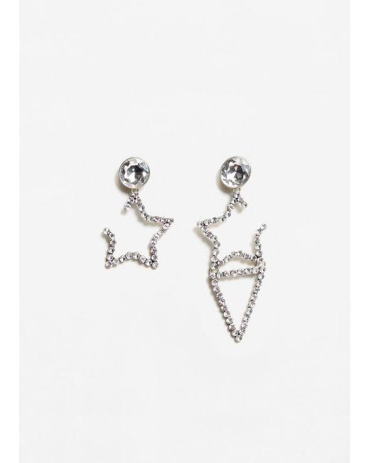 Mango | Metallic Stars Earrings | Lyst