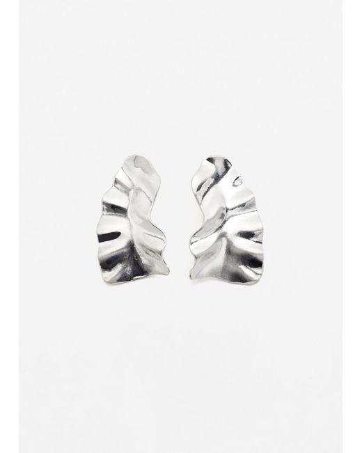 Mango | Metallic Embossed Earring | Lyst