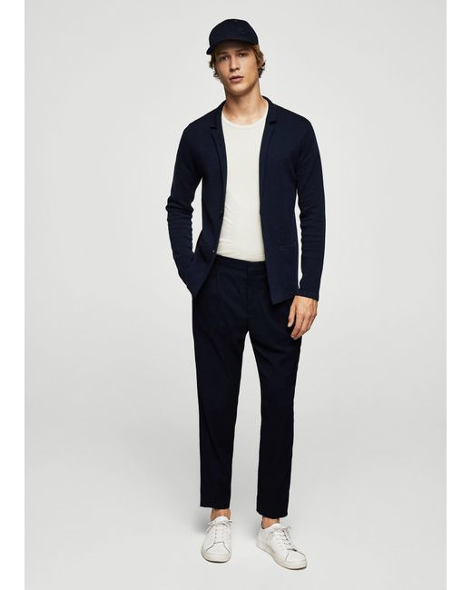 Mango | Blue Cardigan for Men | Lyst