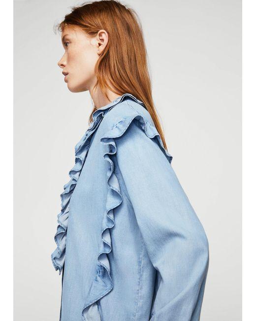Mango | Blue Shirt | Lyst