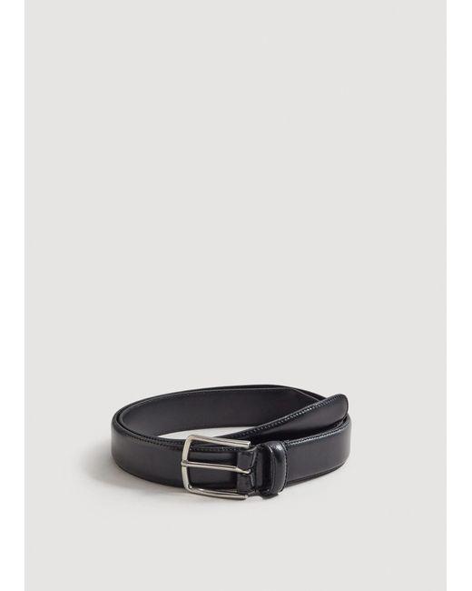 Mango - Black Buckle Leather Belt for Men - Lyst