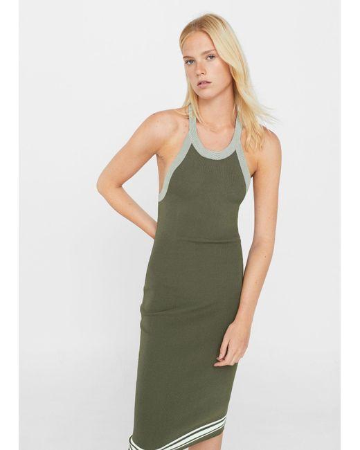 Mango | Green Fitted Jersey Dress | Lyst