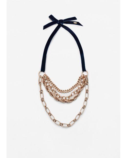 Mango | Metallic Link Chain Necklace | Lyst