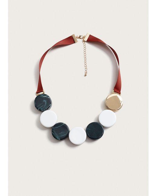 Violeta by Mango - Metallic Mixed Bead Necklace - Lyst