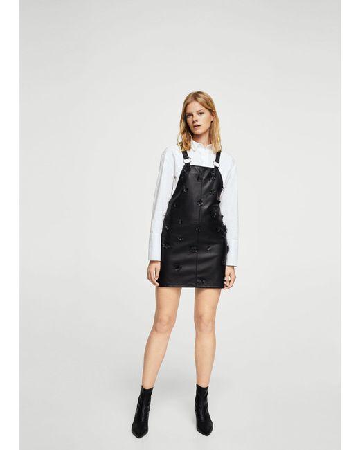 Mango | Black Faux-leather Dress | Lyst