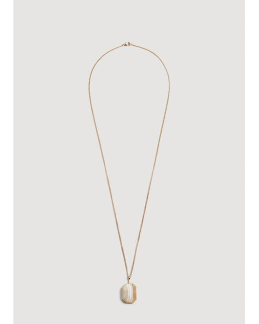 Mango - Metallic Stone Pendant Necklace - Lyst