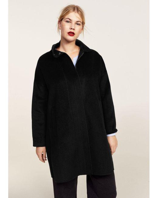 Violeta by Mango | Black Side Openings Coat | Lyst