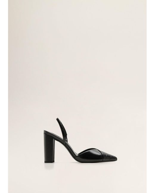 d684b4bf936 Mango - Black Shoe Tip Croc-effect - Lyst ...