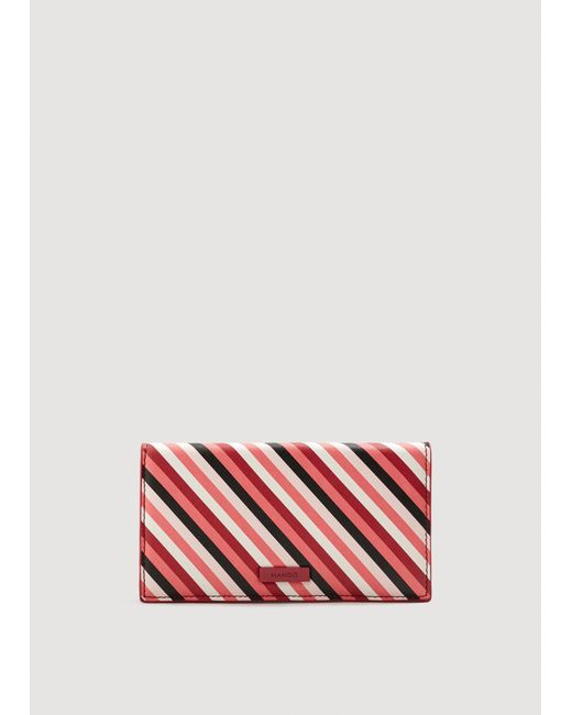 Mango - Red Safiano-effect Wallet - Lyst