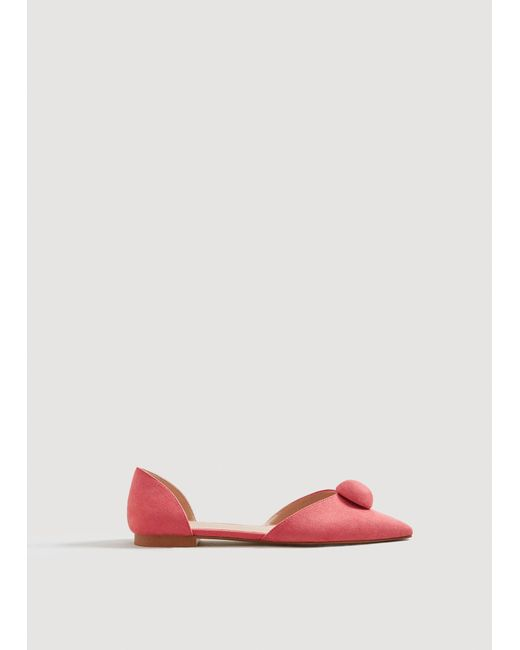 Mango - Pink Pointed Toe Flat Shoes - Lyst