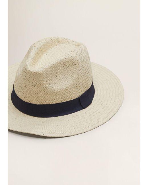 Mango - Natural Straw Fedora Hat for Men - Lyst