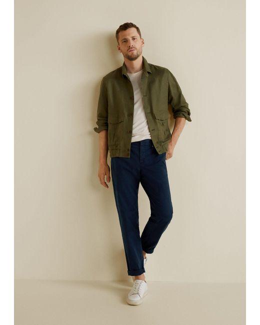 Mango - Blue Slim-fit Cotton Chinos for Men - Lyst