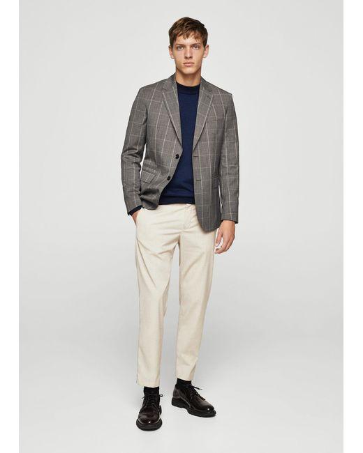 Mango | Blue Wool-blend Knit Sweater for Men | Lyst