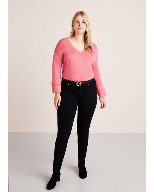 Violeta by Mango - Pink V-neck Wool Sweater - Lyst