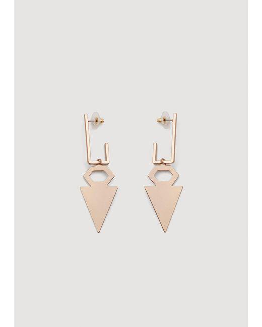 Mango - Metallic Geometric Earrings - Lyst