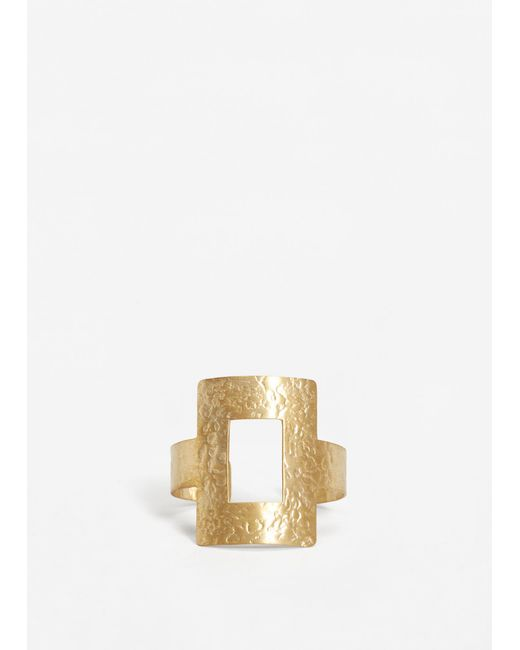 Mango | Metallic Metal Bracelet | Lyst