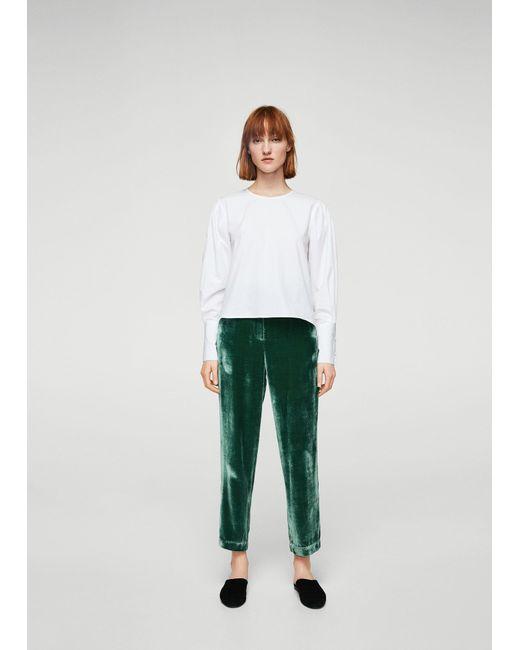 Mango   Green Trousers   Lyst