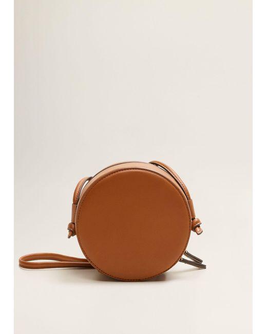 Mango - Brown Round Bag - Lyst