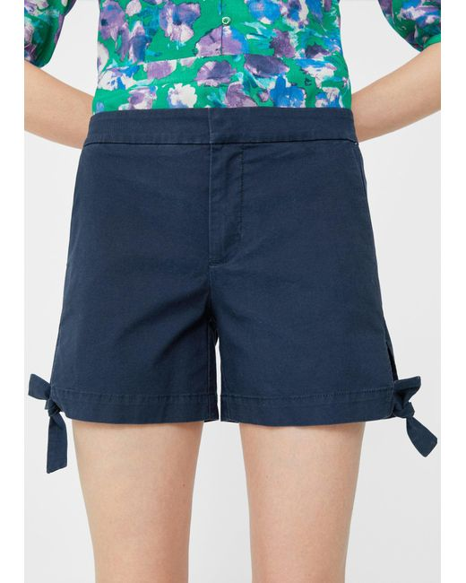 Mango | Blue Lace Cotton Short | Lyst
