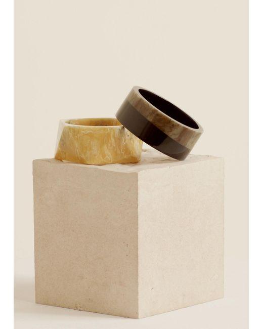 Mango - Black Resin Bracelet Set - Lyst