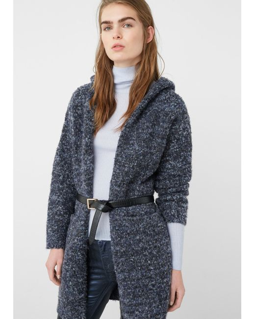 Mango | Blue Flecked Cardigan | Lyst