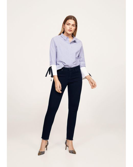 Violeta by Mango | Blue Super Slim-fit Andrea Jeans | Lyst