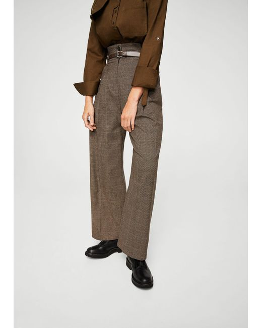 Mango | Brown Trousers | Lyst