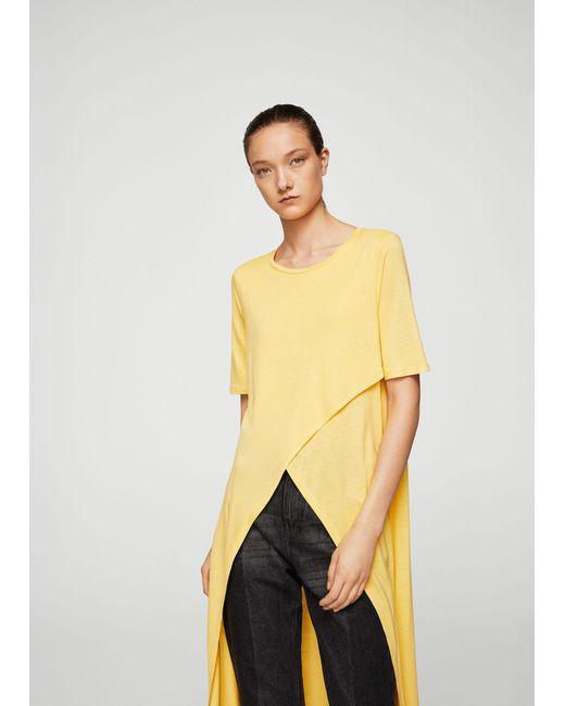 Mango | Yellow T-shirt | Lyst