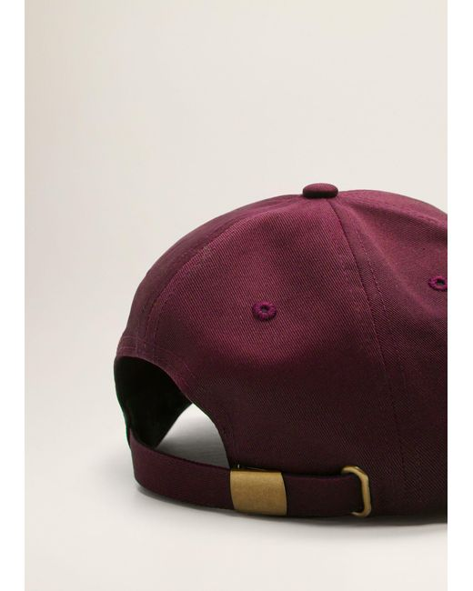 Mango - Multicolor Embroidered Cotton Cap for Men - Lyst