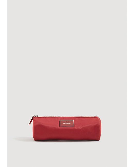 Mango - Red Zipped Cosmetic Bag - Lyst