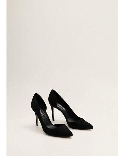fac49537b7 Mango Asymmetric Stiletto Shoes Black in Black - Lyst